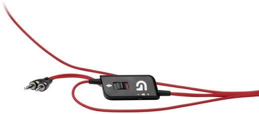 Gaming Headset 3.5 mm Klinke schnurgebunden, Stereo Logitech Gaming G230 Over Ear Schwarz, Rot