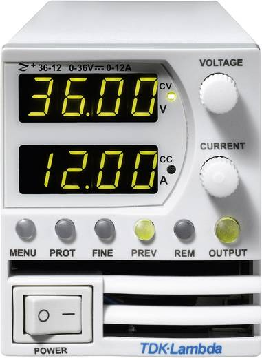 Labornetzgerät, einstellbar TDK-Lambda Z-36-12 0 - 36 V/DC 0 - 12 A 432 W Anzahl Ausgänge 1 x Kalibriert nach ISO