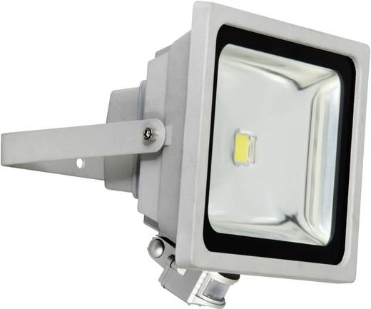 LED-Außenstrahler mit Bewegungsmelder 50 W Tageslicht-Weiß XQ lite XQ-Lite XQ1226 Grau