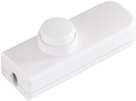 interBär 8011-008.01 Schnurschalter Weiß 1 x Aus/Ein 2 A 1 St.