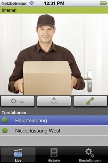 IP-Video-Türsprechanlage LAN Außeneinheit myintercom myi0003 1 Familienhaus Weiß