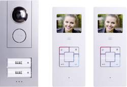 Domácí videotelefon m-e, Vistus VD6320, 2 rodiny, bílá/stříbrná