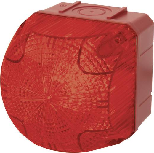 Signalleuchte LED Auer Signalgeräte QDS Rot Rot Dauerlicht, Blinklicht 24 V/DC, 24 V/AC