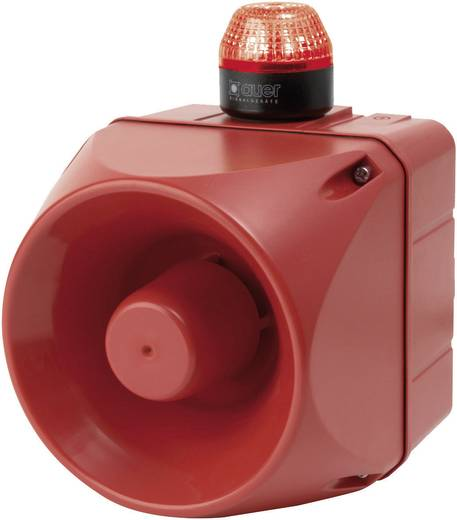 Kombi-Signalgeber LED Auer Signalgeräte ACM Rot Blitzlicht 24 V/DC, 24 V/AC 113 dB