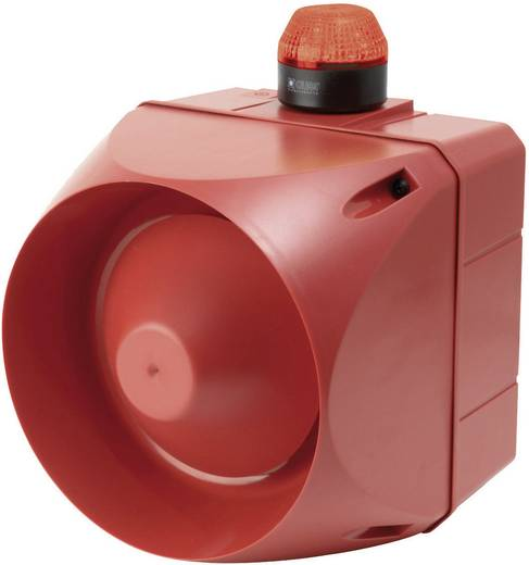 Kombi-Signalgeber LED Auer Signalgeräte ACL Rot Blitzlicht 230 V/AC 120 dB