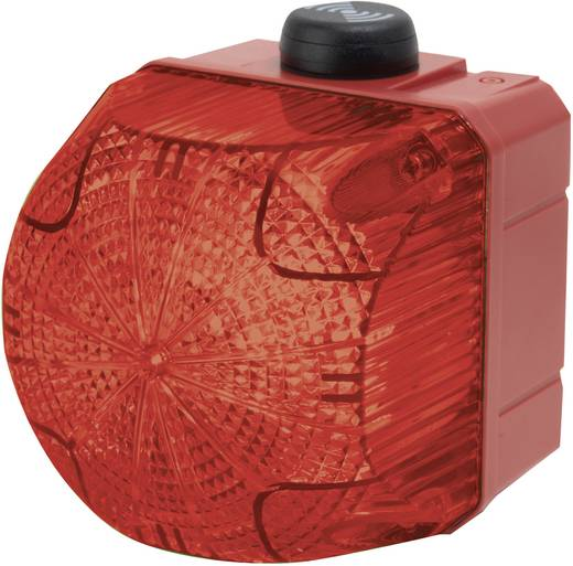 Kombi-Signalgeber Auer Signalgeräte QSS Rot Dauerlicht, Blinklicht 24 V/DC, 24 V/AC 85 dB