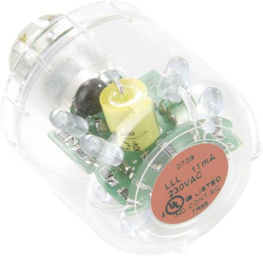 Auer Signalgeräte LED-Lampe LED-Dauerlicht LLL Rot, 24 V AC/DC, BA15d