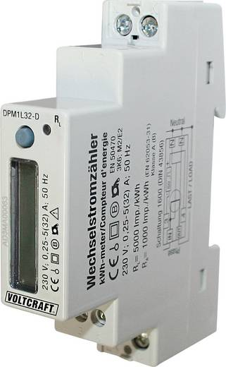 Wechselstromzähler digital 32 A MID-konform: Nein VOLTCRAFT DPM1L32-D Plus
