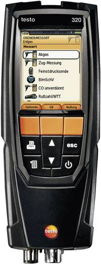 testo 320 Abgas-Analysegerät, inkl. O2-/CO-Sensor ohne H2-Kompensation, inkl. Kalibrierprotokoll; Grafik-Farbdisplay