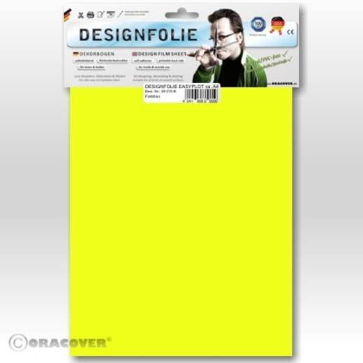 Designfolie Oracover Easyplot 50-031-B (L x B) 300 mm x 208 mm Gelb (fluoreszierend)