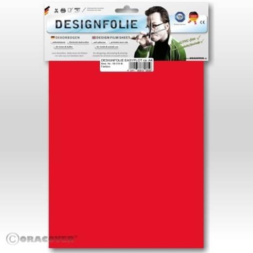 Designfolie Oracover Easyplot 80-026-B (L x B) 300 mm x 208 mm Transparent-Rot (fluoreszierend)
