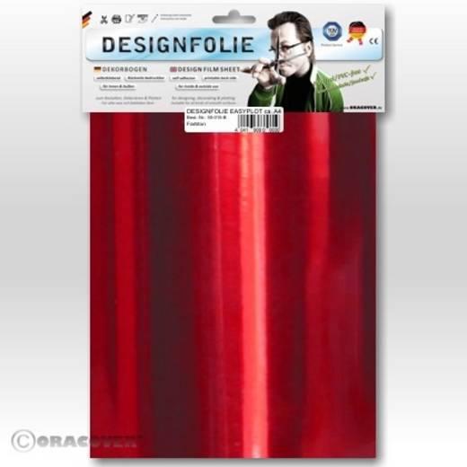 Designfolie Oracover Easyplot 50-093-B (L x B) 300 mm x 208 mm Chrom-Rot