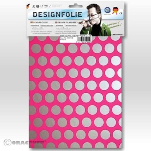 Designfolie Oracover Easyplot Fun 1 90-014-091-B (L x B) 300 mm x 208 mm Neon-Pink-Silber (fluoreszierend)