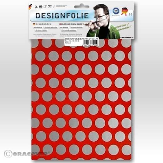 Designfolie Oracover Easyplot Fun 1 90-022-091-B (L x B) 300 mm x 208 mm Hell-Rot-Silber