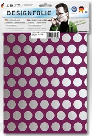Designfolie Oracover Easyplot Fun 1 90-054-091-B (L x B) 300 mm x 208 cm Violett-Silber