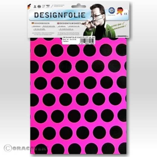 Designfolie Oracover Easyplot Fun 1 90-014-071-B (L x B) 300 mm x 208 cm Neon-Pink-Schwarz (fluoreszierend)