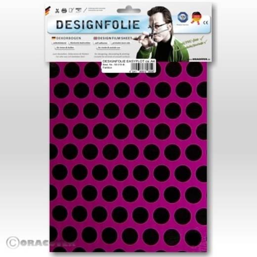 Designfolie Oracover Easyplot Fun 1 90-015-071-B (L x B) 300 mm x 208 cm Violett-Schwarz (fluoreszierend)