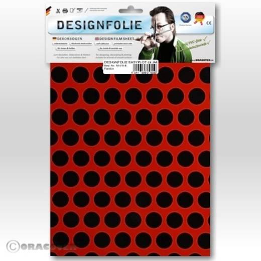 Designfolie Oracover Easyplot Fun 1 90-022-071-B (L x B) 300 mm x 208 mm Hell-Rot-Schwarz