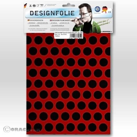 Designfolie Oracover Easyplot Fun 1 90-023-071-B (L x B) 300 mm x 208 mm Ferrirot-Schwarz