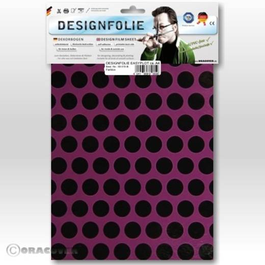 Designfolie Oracover Easyplot Fun 1 90-054-071-B (L x B) 300 mm x 208 mm Violett-Schwarz
