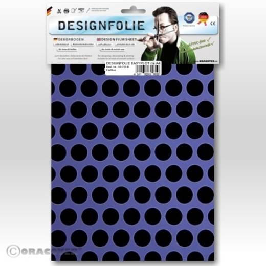 Designfolie Oracover Easyplot Fun 1 90-055-071-B (L x B) 300 mm x 208 mm Lila-Schwarz