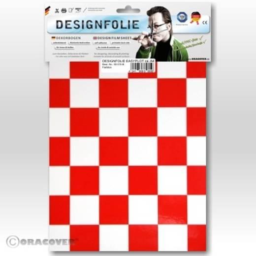 Designfolie Oracover Easyplot Fun 3 87-010-023-B (L x B) 300 m x 208 cm Weiß-Rot