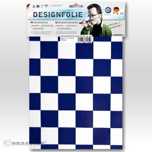 Designfolie Oracover Easyplot Fun 3 87-010-052-B (L x B) 300 mm x 208 mm Weiß-Dunkelblau