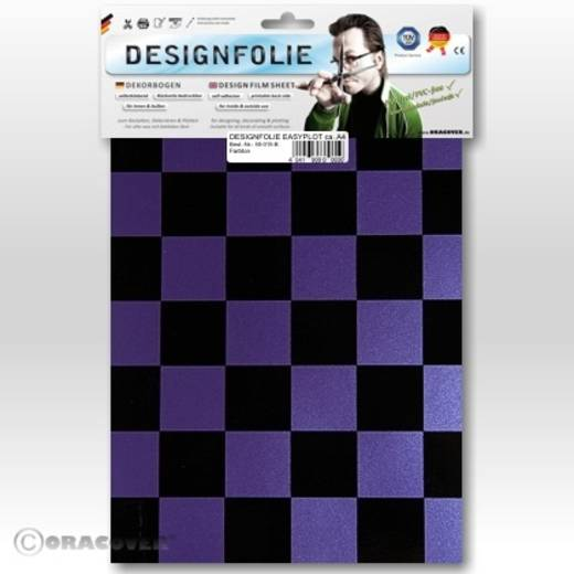 Designfolie Oracover Easyplot Fun 3 87-056-071-B (L x B) 300 mm x 208 mm Perlmutt-Lila-Schwarz