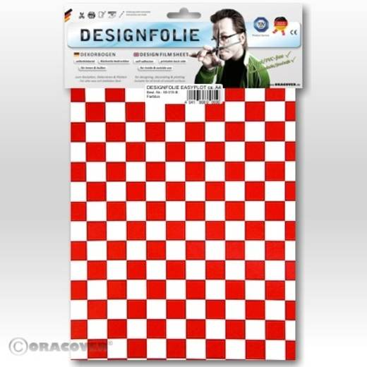 Designfolie Oracover Easyplot Fun 4 95-010-023-B (L x B) 300 m x 208 cm Weiß-Rot