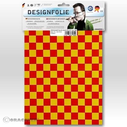 Designfolie Oracover Easyplot Fun 4 95-033-023-B (L x B) 300 m x 208 cm Gelb-Rot