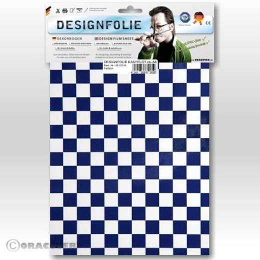 Designfolie Oracover Easyplot Fun 4 95-010-052-B (L x B) 300 mm x 208 cm Weiß-Dunkelblau