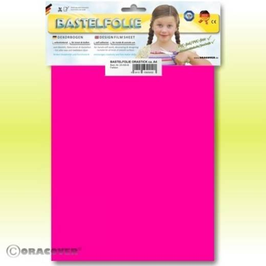 Klebefolie Oracover Orastick 25-014-B (L x B) 300 mm x 208 mm Neon-Pink (fluoreszierend)