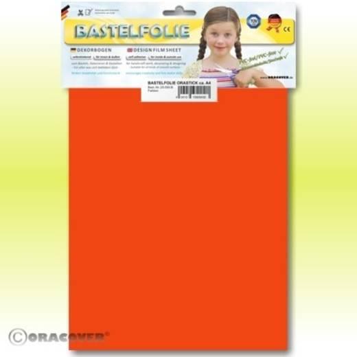 Klebefolie Oracover Orastick 25-064-B (L x B) 300 mm x 208 mm Rot-Orange (fluoreszierend)