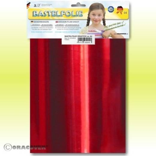 Klebefolie Oracover Orastick 25-093-B (L x B) 300 mm x 208 mm Chrom-Rot