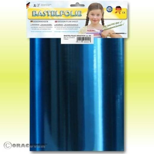 Klebefolie Oracover Orastick 25-097-B (L x B) 300 mm x 208 cm Chrom-Blau