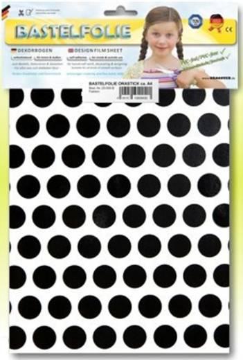 Klebefolie Oracover Orastick Fun 1 45-010-071-B (L x B) 300 mm x 208 mm Weiß-Schwarz