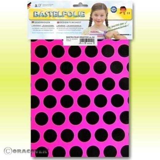 Klebefolie Oracover Orastick Fun 1 45-014-071-B (L x B) 300 mm x 208 mm Neon-Pink-Schwarz (fluoreszierend)