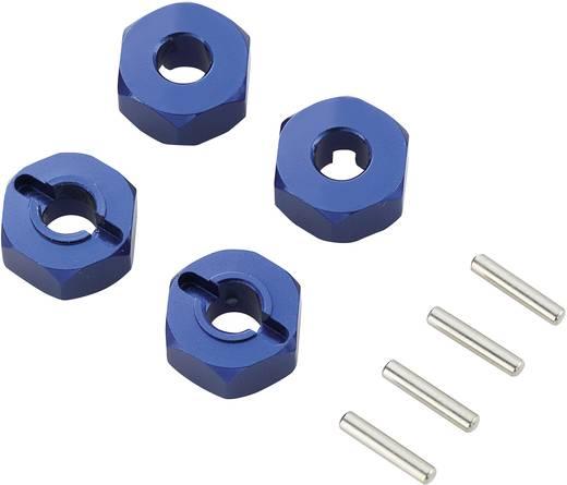 1:10 Alu-Felgenmitnehmer 12 mm 6-Kant Reely Blau 1 Pckg.