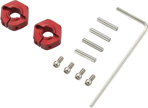 1:10 Alu-Felgenmitnehmer 12 mm 6-Kant Reely Rot 4 St.