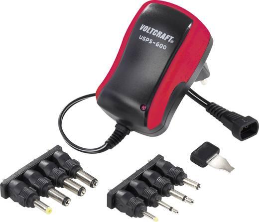 Steckernetzteil, einstellbar VOLTCRAFT USPS-600 red 3 V/DC, 4.5 V/DC, 5 V/DC, 6 V/DC, 7.5 V/DC, 9 V/DC, 12 V/DC 600 mA 7