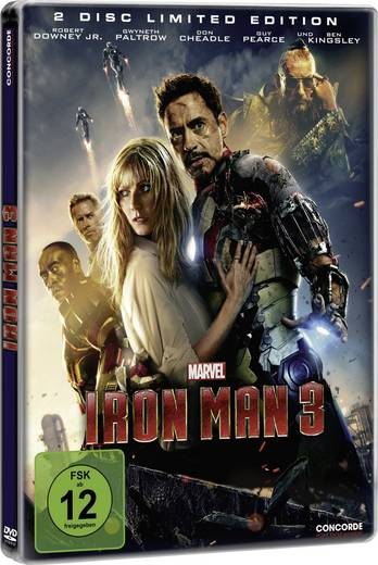 DVD Iron Man 3 - Steelbook (2 DVD´s, Limited Edition) FSK: 12