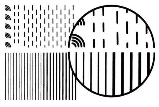 Transferbogen Kurven Schwarz (L x B) 250 mm x 0.5 mm SENO Inhalt 1 St.