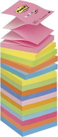 Post-it® Z-Notes R33016, 76 x 76 mm, verschiedene Farben, 16 Blöcke à 100 Blatt
