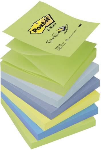 Post-it® Z-Notes R330-6R, 76 x 76 mm, Himmelblau, neongelb, pastellgrün, retroblau, ultrablau, ultragrün, 6 Blöcke à 100