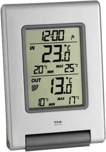 TFA EASY BASE Thermometer Silber