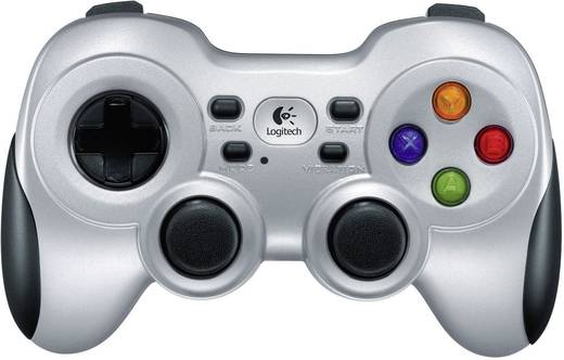 Gamepad Logitech Gaming F710 Wireless Controller PC Silber