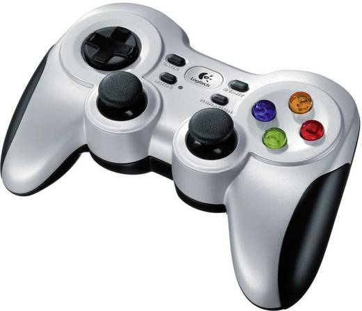Gamepad Logitech F710 Wireless Controller PC Silber
