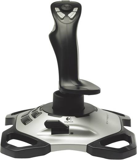 Joystick Logitech Gaming Extreme 3D Pro USB PC Schwarz, Silber