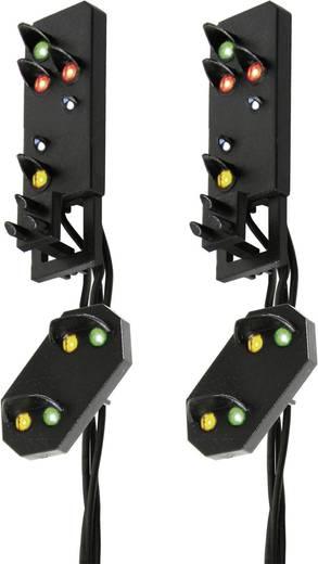 H0 Viessmann 4751 Lichtsignal mit Vorsignal Ausfahrsignalköpfe Fertigmodell DB