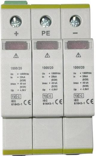 Überspannungsschutz-Ableiter Überspannungsschutz für: Photovoltaik-Anlage ESKA ETI C-PV 1000/20 RC 20 kA